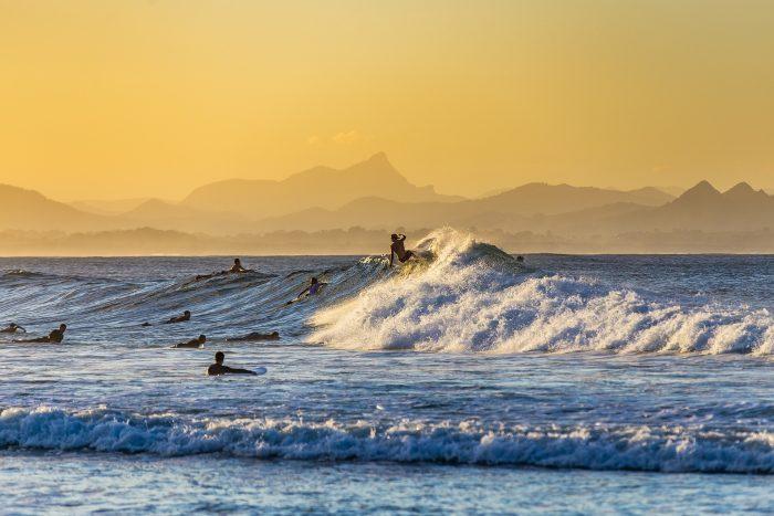 サーフィンのゲティングアウトの写真